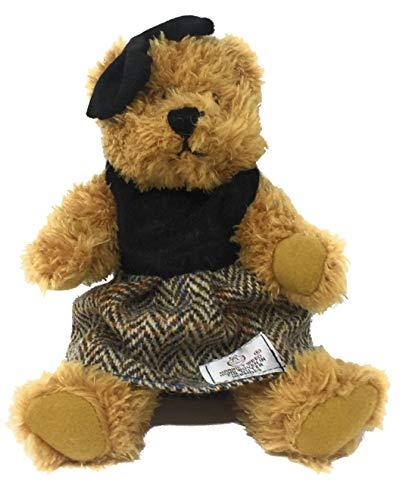 - Harris Tweed Brown Herringbone Dressed Scruffy Girl Bear