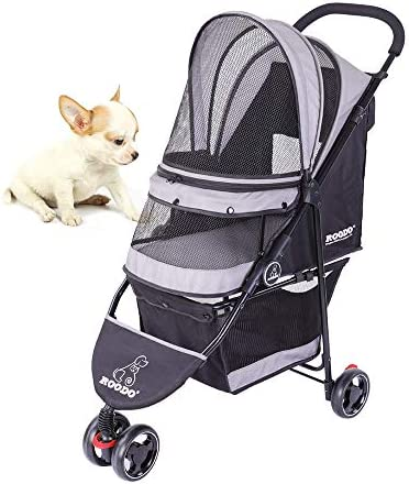 SeedFuture 3 Wheeler Pet Stroller Cat Dog Cat Folding Travel Carrier