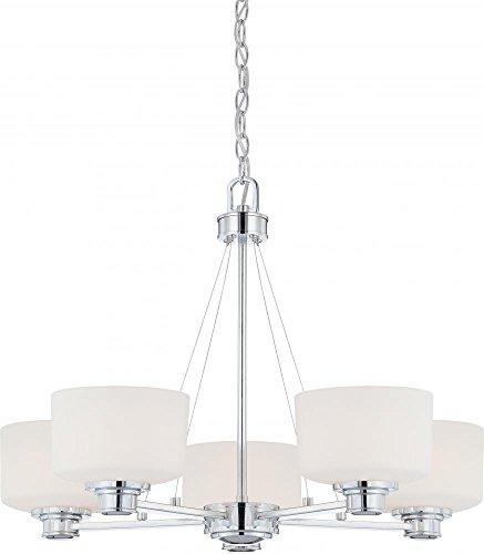Nuvo 60/4585 Soho Polished Chrome Five Light Chandelier (Soho Ceiling Chandelier)