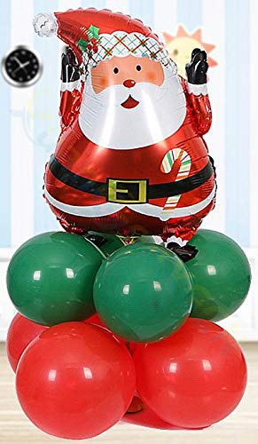 StrongLife Pendant & Drop Ornaments - Xmas Small Inflatable Aluminum Balloon Column Set Store Hotel Party Santa Snowman Tree Road Lead Christmas Decorations Props 1 PCs