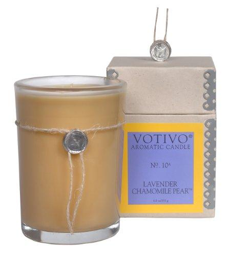 Votivo Aromatic Candle Lavender Chamomile Pear 6.8oz