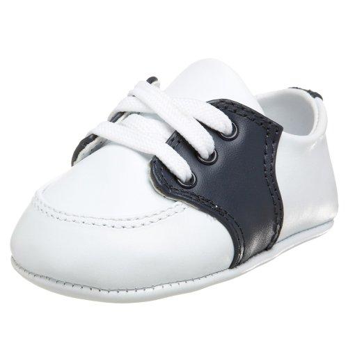 Baby Deer Conner Saddle Shoe (Infant/Toddler),White/Navy,1 M US Infant - Baby Leather White Deer