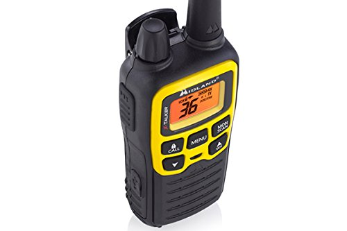 Midland - X-TALKER T61VP3, 36 Channel FRS Two-Way Radio - Up to 32 Mile Range Walkie Talkie, 121 Privacy Codes, NOAA Weather Scan + Alert (Pair Pack) (Black/Yellow) by Midland (Image #5)
