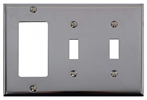 Switchplate Chrome Double Toggle GFI | Renovator's Supply