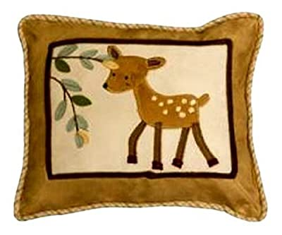 Lambs and Ivy Enchanted Forest Decorative Pillow, Tan/Brown/Green from Lambs & Ivy