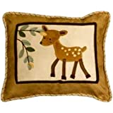 Lambs and Ivy Enchanted Forest Decorative Pillow, Tan/Brown/Green