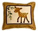 Lambs and Ivy Enchanted Forest Decorative Pillow, Tan/Brown/Green, Baby & Kids Zone