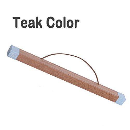 lieomo Magnetic Oak Wood Poster Frame Hanger - Artwork Print Holder Canvas Quilt Wooden Hanging(Teak color) -