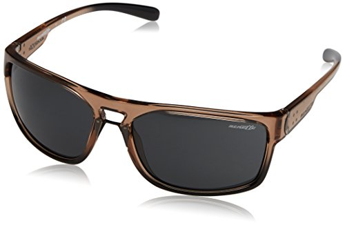Arnette Men's AN4239 Brapp Rectangular Sunglasses, Brown /Grey, 62 ()