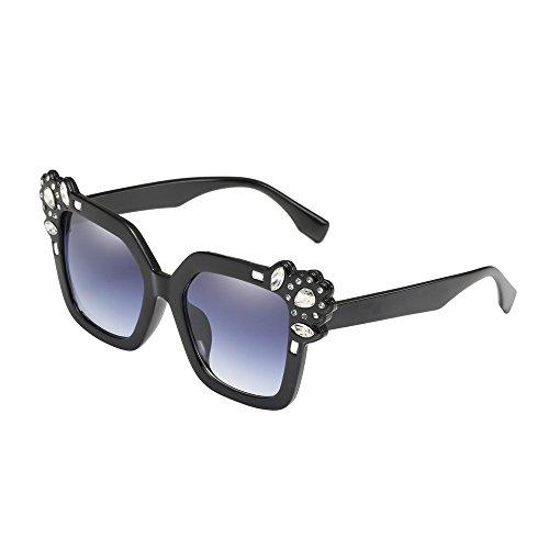 nisex Classic Square Frame Reflective Lens Radiation UV Protection Polarized crystal Eyewear ()