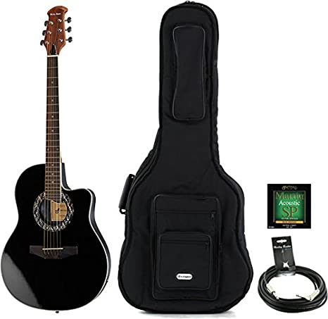 Guitarra Acústica oferta Bundle Color Harley HB600 BK Bundle ...