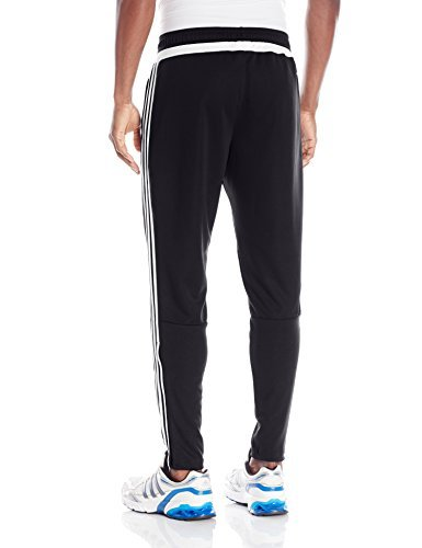 adidas Men's Tiro 15 Training Pants, Black/Solar Lime, X-Small