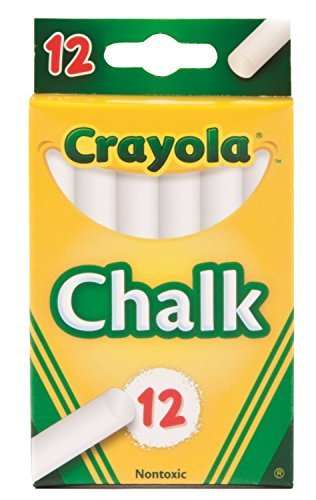 - Crayola Chalk, White,12 Count (Case of 36)
