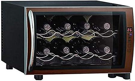 Lilizhou Gabinete De Vino De 8 Botellas, Bodega De Temperatura Constante De Mantenimiento Fresco, Bebidas Frigorífico De Temperatura Constante, Ahorro De Energía, Negro