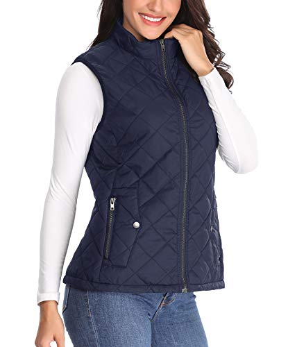 De Mujer Ligeras Chaleco Puffer Collar Mujeres Mangas Pie Con q4HgxS