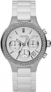 DKNY Ceramic Glitz Chronograph White Dial Women's watch #NY4985 from DKNY