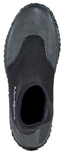 NeoSport Wetsuits Premium Neoprene 3mm Low Top Pull On Boot, Black, 10 - Water Shoes, Surfing & Diving