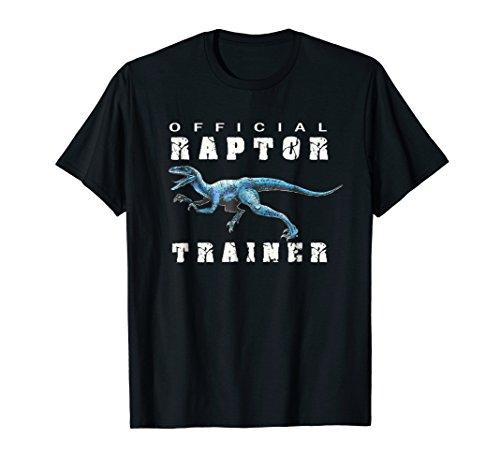 Jurassic Dinosaur Men Women Kids Blue Raptor Trainer T-Shirt
