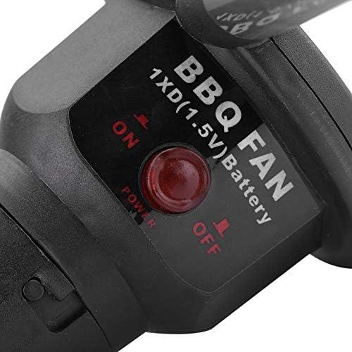 Broco Ventilateur Soufflet Electrique, Portable Ventilateur à piles BBQ Ventilateur pour Camping en plein air de pique-nique Barbecue au charbon de bois Barbecue