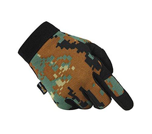 PANDA SUPERSTORE [Digital Camo] Wear-Resistant Rock Climbing Hunting Gloves, L