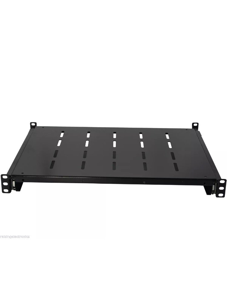 Sliding Rack Server vented Shelf 1U 19'' 4 Post Rack Mount-Adjustable 24''-32''