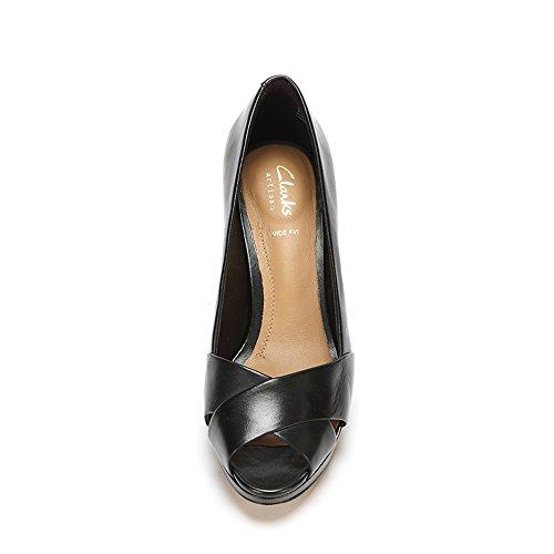 Clarks 261159565 - Zapatos de vestir para mujer Negro