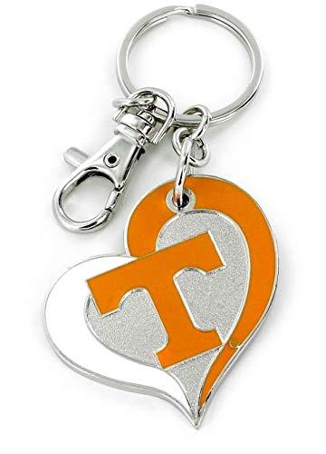 aminco NCAA Tennessee Volunteers Swirl Heart Keychain