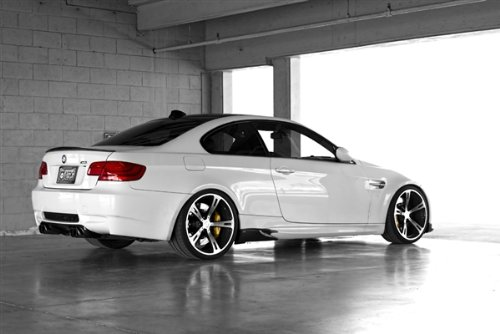 BMW E92 M3 White Right Rear AC Schnitzer HD Poster Sports Car 48 X 32 Inch Print (Ac Schnitzer E92)