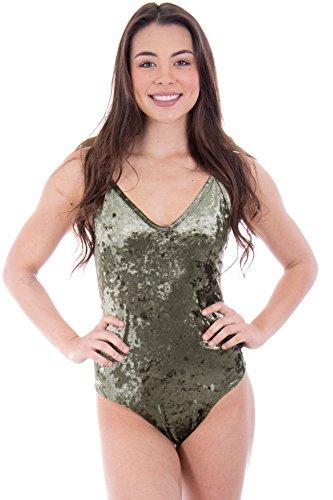 Crushed Velvet Bodysuit - Made in the USA