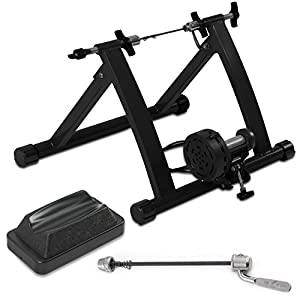 Akonza Bicycle Cycling Magnetic Trainer W/ 7 Levels Resistance Exercise Stand Black