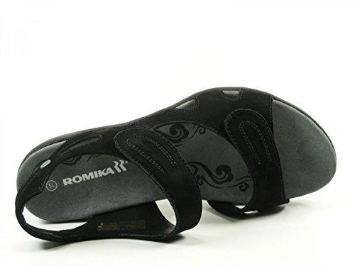 Romika 30307-10 Palma 07 Sandalias de cuero para mujer Schwarz