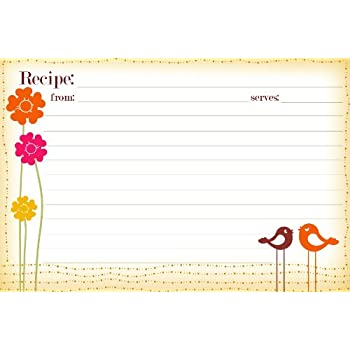 Amazon.Com: Bigkitchen - Clear Vinyl 4 X 6 Inch Recipe Card Covers