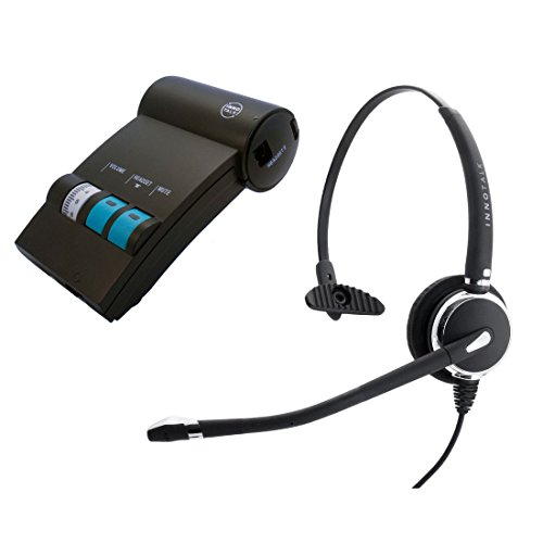 Avaya Lucent AT&T Partner phone MLS-12D, MLS-34, MLS-6 Headset, Best Professional Monaural Headset with Noise Cancel Mic Headset + Headset Amplifier with GN netcom Compatible QD by InnoTalk