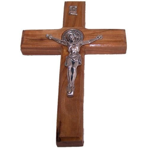 Olive Wood Crucifix / Wall Cross Hand Crafted by Artisans in Bethlehem (the heart of the holy land). An Ideal Religious Gift for Christmas or any other Christian Holiday. by Bethlehem Gifts TM