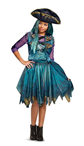 Hot Stuff Costumes For Women (Disney Uma Classic Descendants 2 Costume, Teal, Medium (7-8))