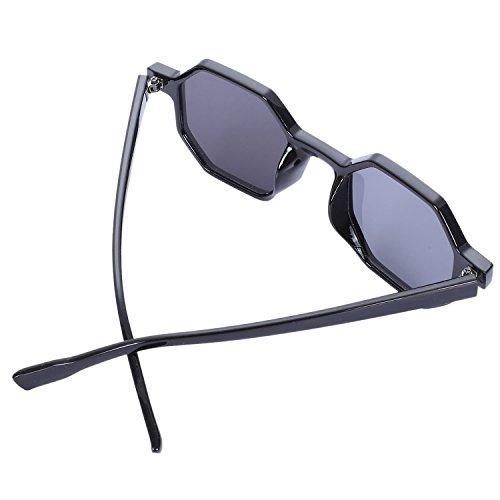Gafas Retro Gafas de Sol Gafas lujo Negro de Sol Mujeres Senoras de Poligonales Pequenas de Sol SODIAL Sunglass Vintage Negras Zx6Aqw0w