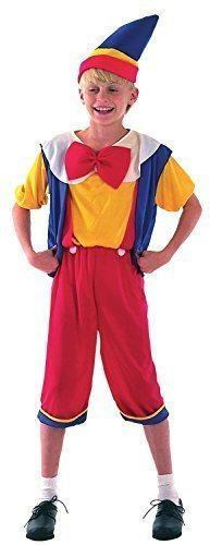 Boys Wooden Puppet Pinnochio Book Day Week Film Halloween Fancy Dress Costume Outfit 4-14 years (7-9 years)