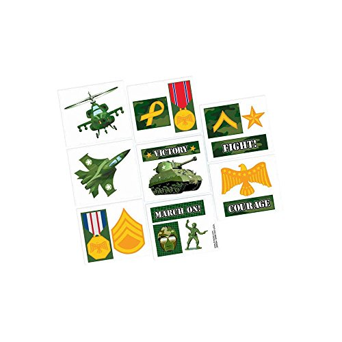 [Adventurous Camouflage Tattoo Birthday Party Favours Toy and Prize Giveaway,11 5
