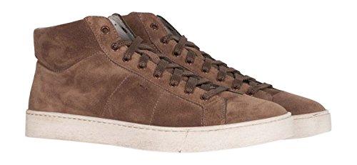 Sneaker Hoher aus Santoni braun Veloursleder Yq5Sv