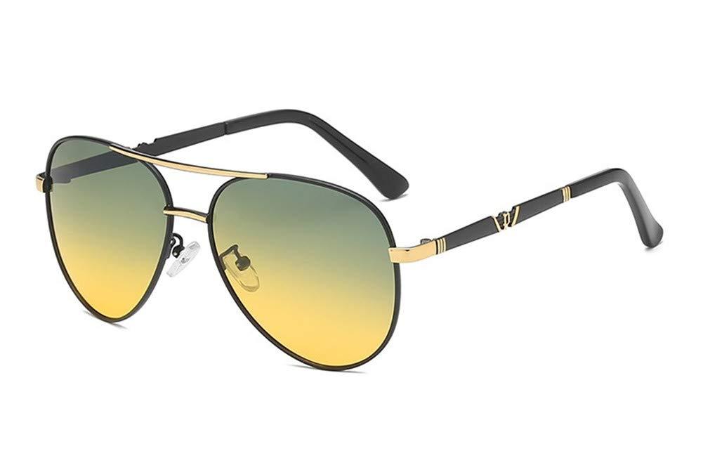 Baselay Night Driving Glasses - 2019 Aviator Pilot Polarized Anti-Glare HD Vision - Safety Night Vision Glasses for Men Women (Black/Golden Daynight) by Baselay