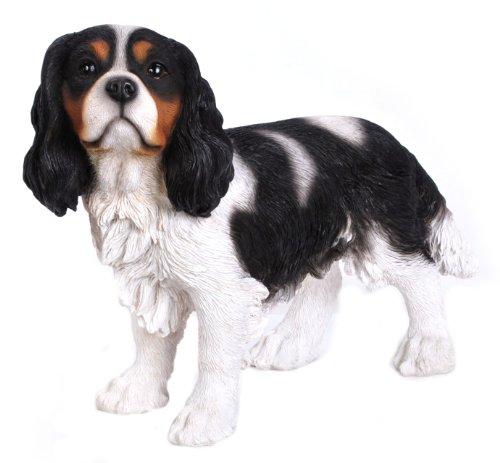 Hi-Line Gift Ltd King Charles Spaniel Hand Painted Dog Standing Figurine