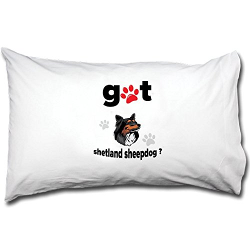 (SHETLAND SHEEPDOG Got Bed Single Pillow Case Penny McCarthy)