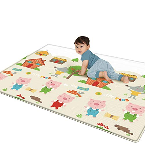 """Toysgift Baby Play Mat -Large Double Sides Non-Slip Waterproof Portable Playmat for Babies, Infants, Toddlers Outdoor or Indoor Use,78.7"""" x 70.8"""",Shipping from CA.,NJ."""