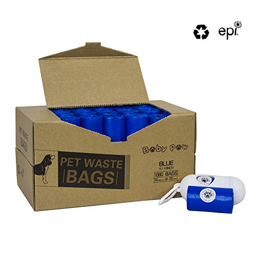 Pet Poop Bags 1080 Counts 54 Rolls Dog Waste Bags Doggie Bags with Free Dispenser