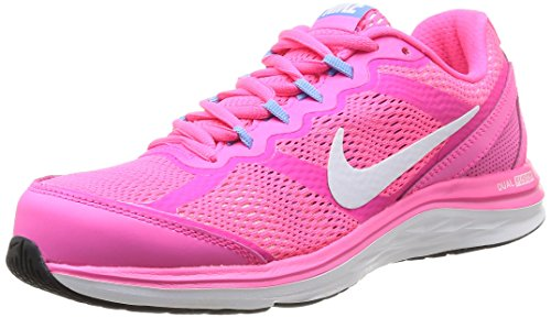Nike Womens Dual Fusion Run 3 Hyper Pink/White/Unvsrty Bl...