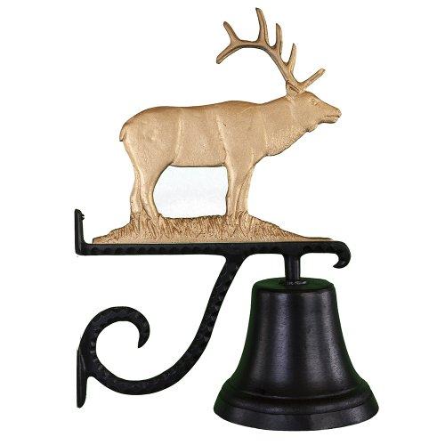 Montague Metal Products Cast Bell with Gold Elk (Elk Doorbell)