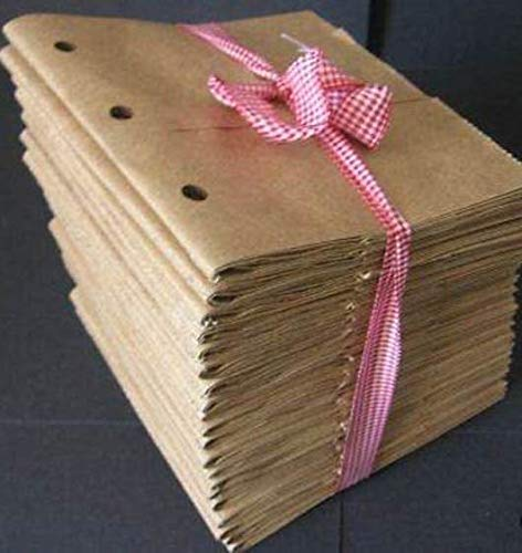 Kraft Brown 6x6 paper bag albums 20 Paper bag Scrapbooks 3 holes
