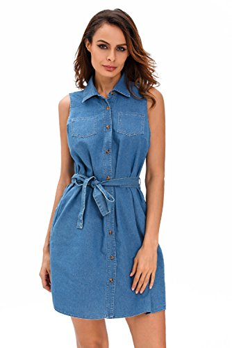 Buy belted embroidered eyelet day dress - 1