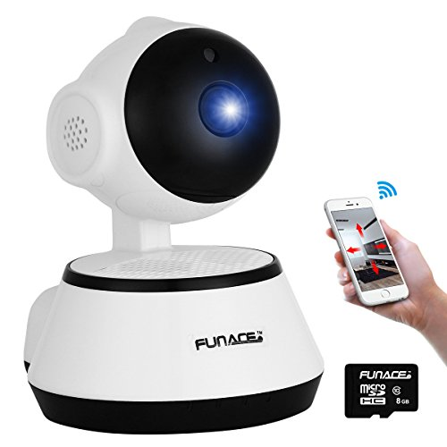 Internet Video Security Monitoring (WiFi IP Network Wireless Camera (HD Megapixel/Night Vision/2 Way Audio/SD Card Slot/Pan & Tilt) Remote Home Monitoring P2P Video Security Surveillance Motion Activated 720p Cam for IOS Android PC)