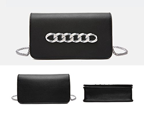 de bolso MinottaUKD6053 elegante mano de Negro Sintético Minotta Mujer nxwq1IEdw5